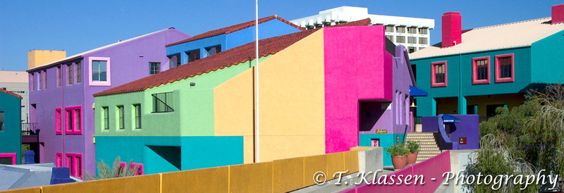 La Placita Village, a colorful office complex in Tucson, Arizona, USA.