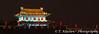 The city walls of Xian China at night.
