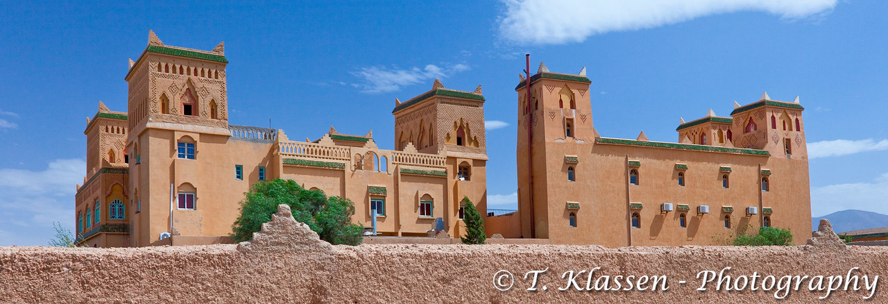 Moroccan architecture at the Hotel Kasbah Asmaa in Midelt, Morocco.