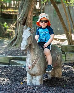Jaxson at the Cameron Park Zoo