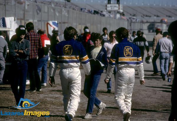Derek Bell, Al Unser Jr<br /> Pre-Race 24 Hrs Daytona 1986