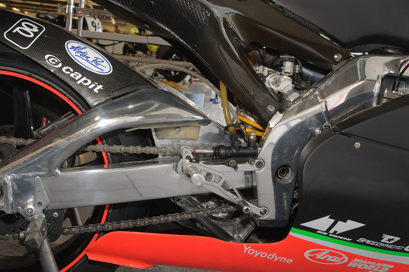 Aprilia 250GP bike that was competing with the Local Club racing,  going on this weekend