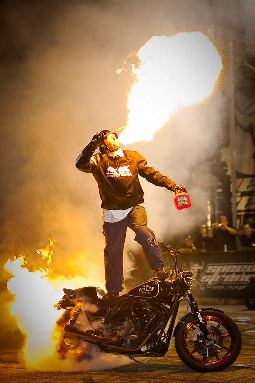 Jason Pullen Flaming Burnout Indy XDL 2009