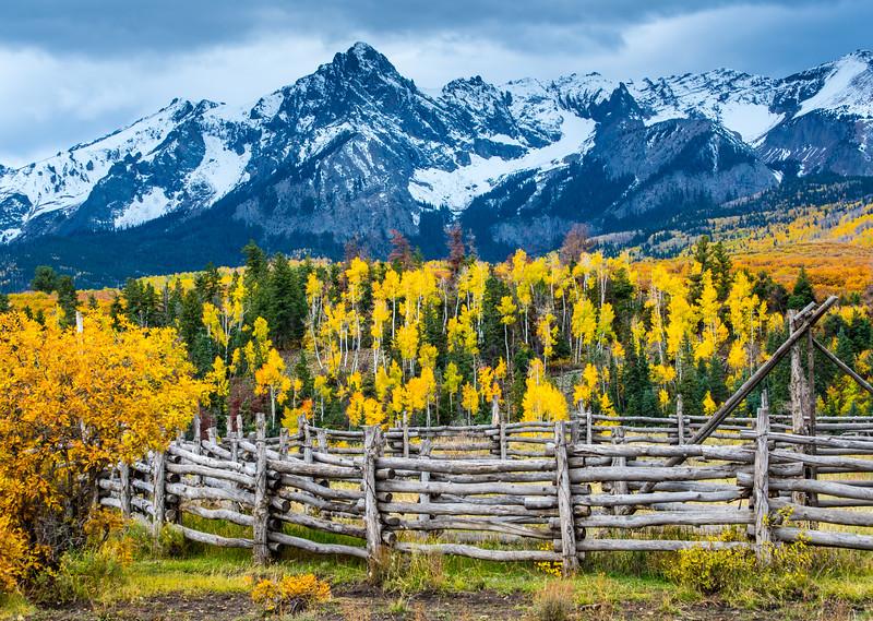 Sneffels Range Ranch In Fall - Colorado
