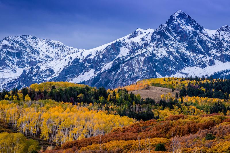 Sneffels Range Fall Sunrise - Dallas Divide - Colorado