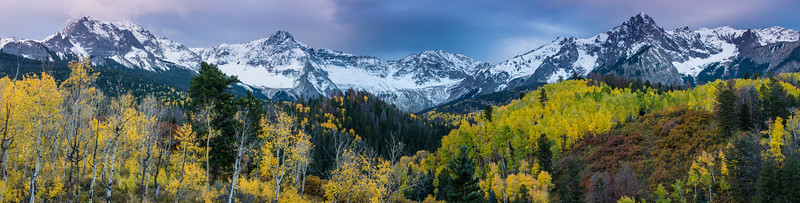 Mears Peak And Sneffels Range In Fall - Colorado