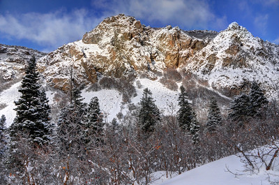 Snowy Ridge Above Bell Canyon - Wasatch Mountains - Utah