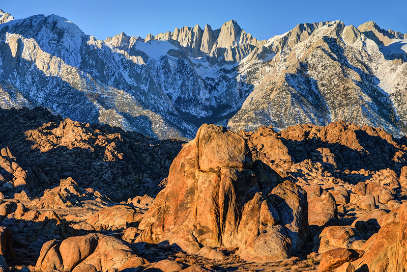 Sierra Nevada Mountains And Alabama Hills Sunrise