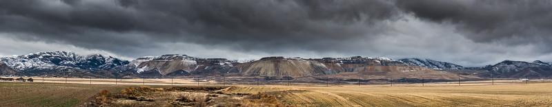 Oquirrh Mountains Winter Storm Panorama - Utah