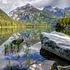 Taggart Lake Reflection - Grand Teton National Park