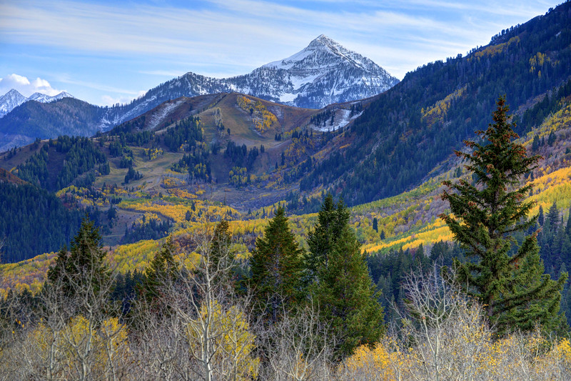 Fall At Cascade Peak And Sundance From Alpine Loop - Utah