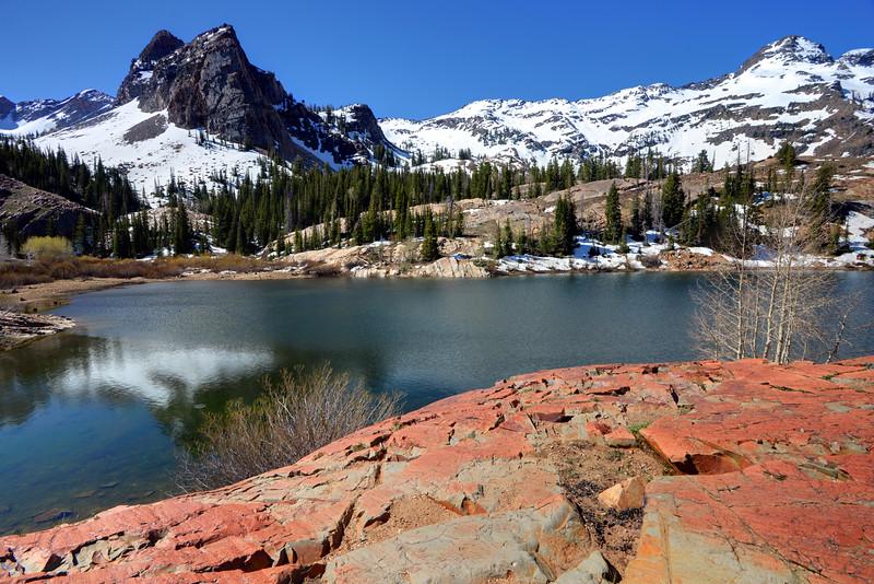 Sundial Peak And Lake Blanche In Spring - Utah