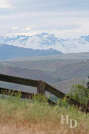 Cascade mountains, taken near Ellensburg.