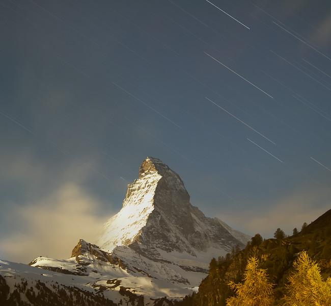 Star Trails over Matterhorn