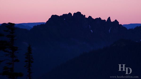 Cascade peaks at dawn.