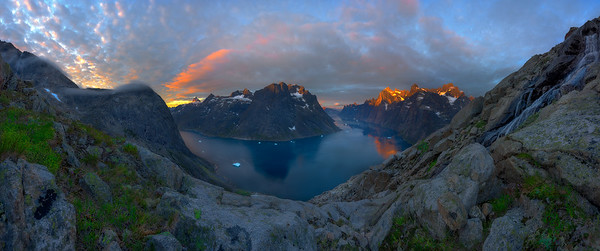 Sunrise in Greenland