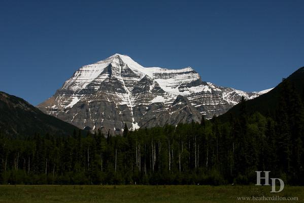 Mt. Robson, tallest peak in British Columbia.