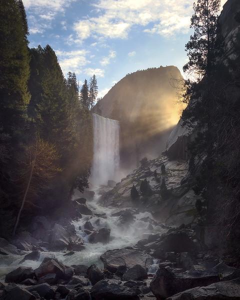 Vernal Falls at Dawn