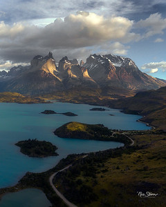 Torres Del Paine from The Air