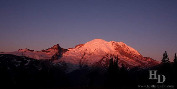Rainier National Park at Sunrise.