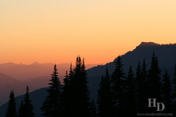 Sunset at Paradise, Mt. Rainier NP