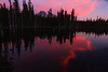~Clouds  of  Fire~<br /> <br /> Horseshoe Lake with Mount Adams looming to the South.