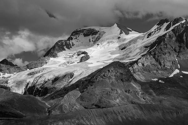 Mount Athabasca Creases and Shadows