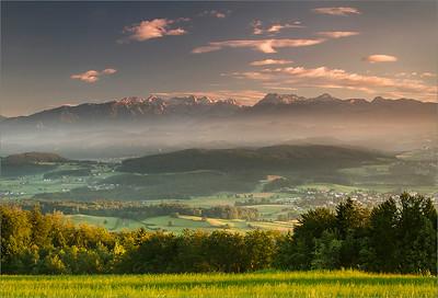 Kamniško-Savinijske Alps seen from Grmača pass