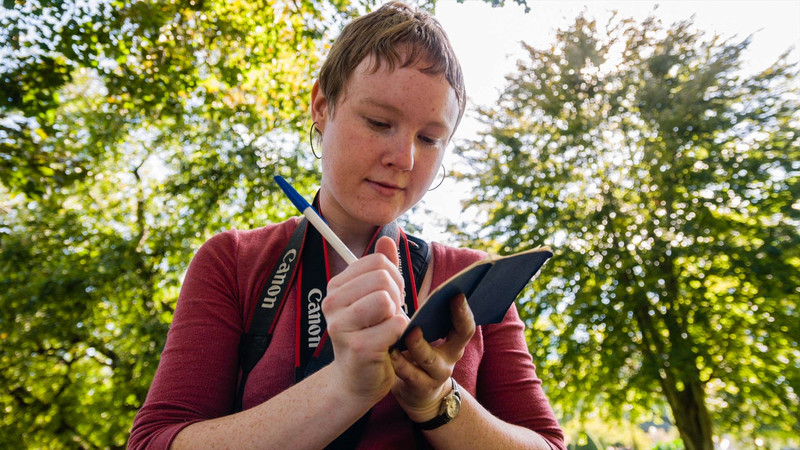 Sarah Ganzhorn, MS Photojournalism student at Boston University