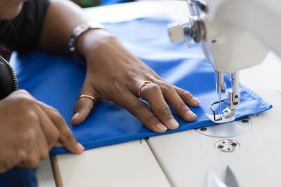 Ruksana's hands at work.