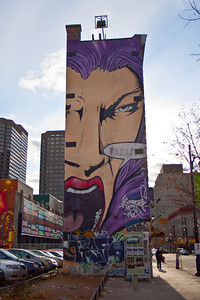 "Tha Plash - MY FIRST WALL! "" 3 faces of building painted located on Ste-Cathrine street MONTREAL,the first time i get to freestyle, made in 1997 (a lifetime ago!!!),six magic days of prod, photographed millions of times and the beginning of a long career!"""