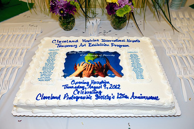 CPS 125th Anniverary Cake - CPS Photo Exhibit at Cleveland Hopkins Airport