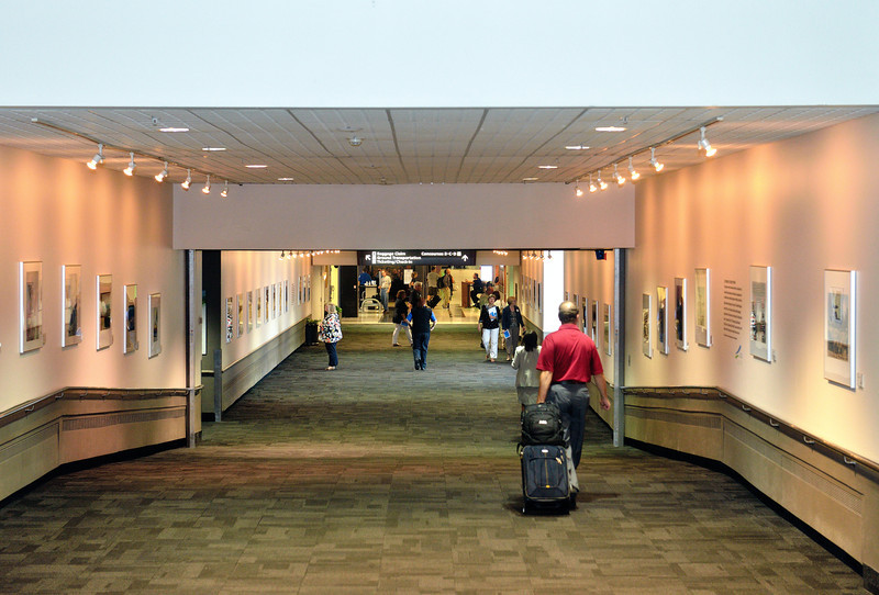 CPS Exhibit on Concourse A - CPS Photo Exhibit at Cleveland Hopkins Airport