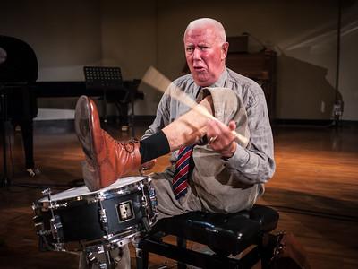 Dutch percussionist Han Bennink