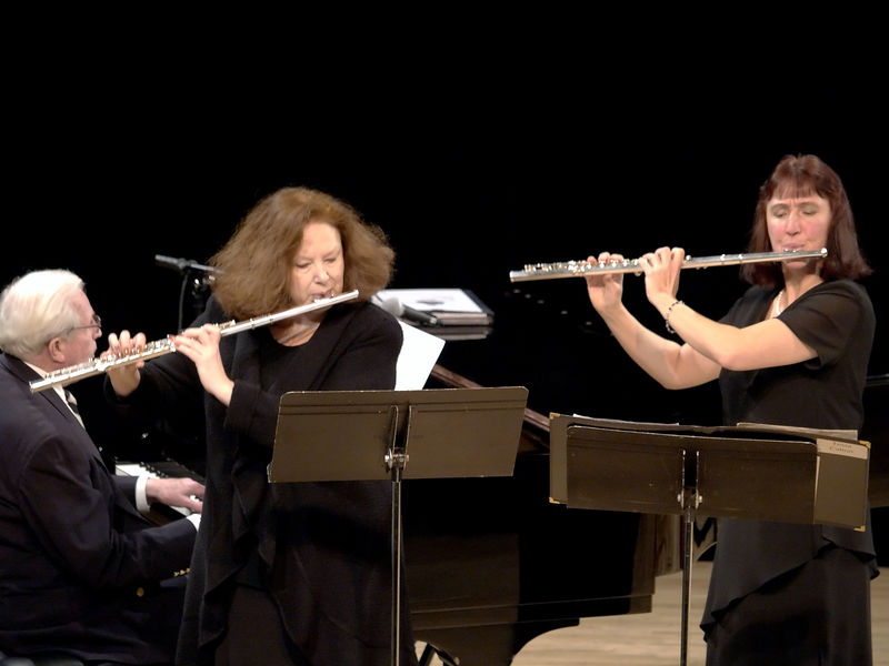 Here Anne Brown joined Tessa for the Flower Duet from Lakme.  Not only does Anne play with the orchestra, she runs it.  She's our Executive Director.