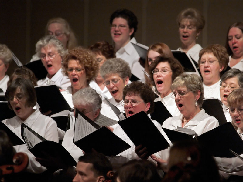 The soprano section of the Symphony Singers.