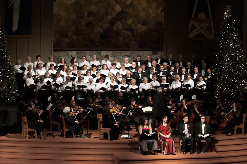 "The full ensemble during ""The Messiah""."