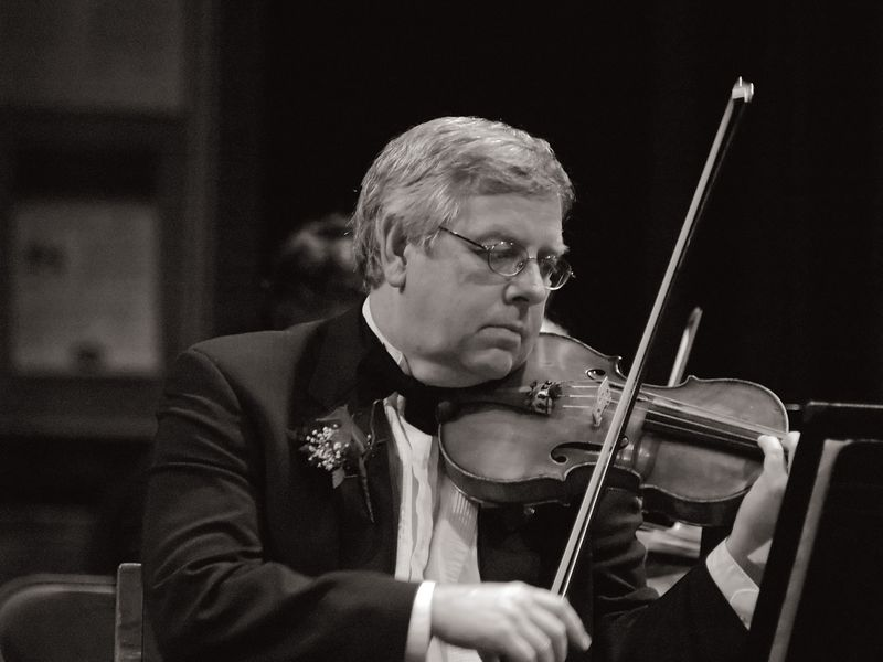 Sigmar Martin, Concertmaster, plays the main theme in an edited version of Bolero.