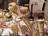 The low brass section at work.
