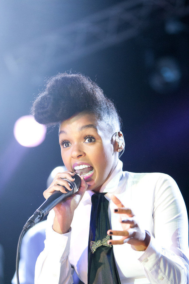 Janelle Monáe performing at La Zona Rosa. SXSW 2011.<br /> 3/17/2011.<br /> <br /> ©Hutton Supancic/ WireImage