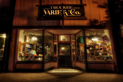 "Truckee Variety  Truckee Variety is like a combination of stepping back into the past and ""Who dreamed THAT up?"". A wizarding emporium if I ever saw one. Obscure toys, candy some of us might remember from our youth, toy soldiers/cars/dinosaurs/creatures from god-knows-where... oh, the list is long. I should actually make a list of the wonders found within these portals. I even love the old floorboards.    ©Karen Hutton - Creative Commons (CC BY-NC 3.0)"