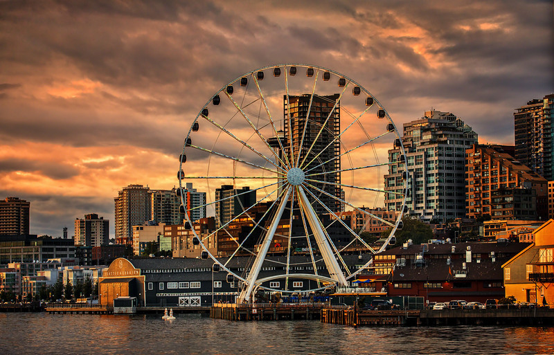 The Mighty Ferris Seattle, WashingtonThe view was stunningand the wheel kept turning.