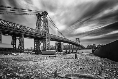 Williamsburg Bridge - Black and White