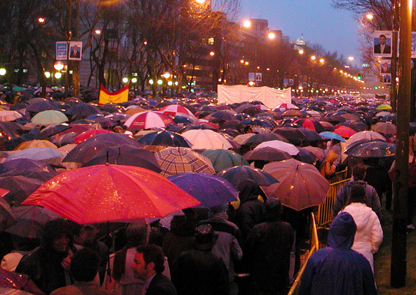 Demonstration after the March 11 Bombings in Madrid, Spain