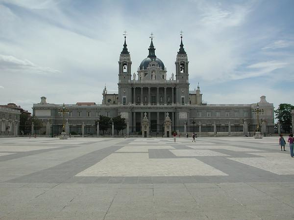 La Catedral de la Almudena -- from the Palacio Real in Madrid