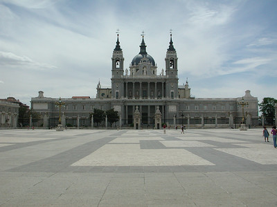 La Catedral de la Almudena -- from the Palacio Real in Madrid