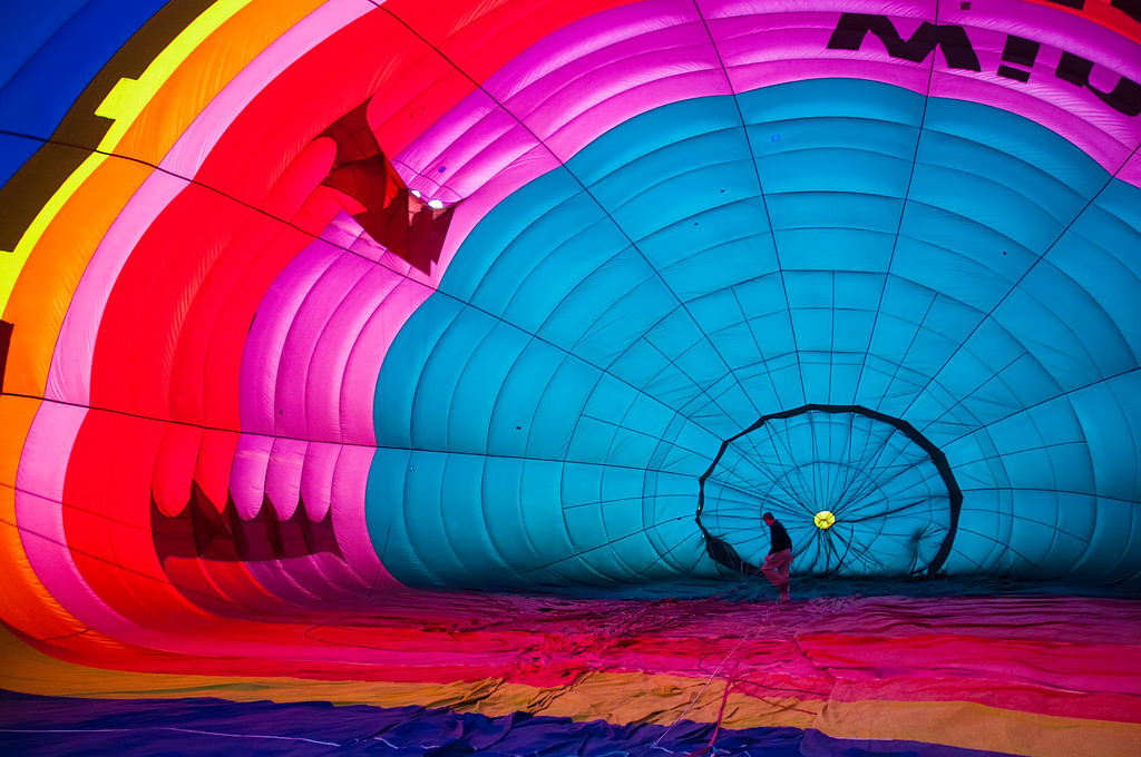 Inside the baloon