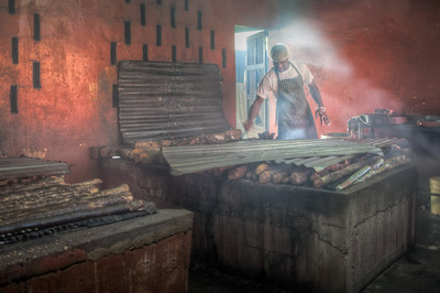 I got this shot of one of the workers prepping some chicken at a local restaurant on the way back to the hotel from Ochos Rios. This turned out to be one of my favorite pictures from the trip.