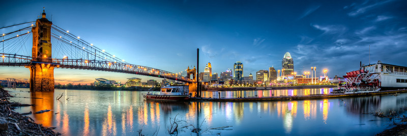 Queen City Panorama at Twilight