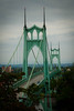 St. Johns bridge from the west hills.